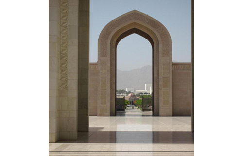 The Grand Mosque in Muscat, commissioned by Sultan Qaboos, opened in 2001